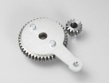 Coppia ingranaggi trasmissione standard per smielatore d.420 + manopola e vite M8